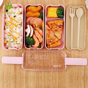 Healthy Material Lunch Box 3 Layer 900ml