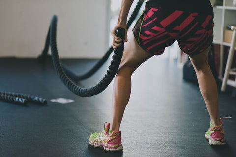 battle ropes in workout