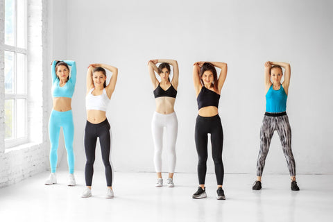 group of girls stretching