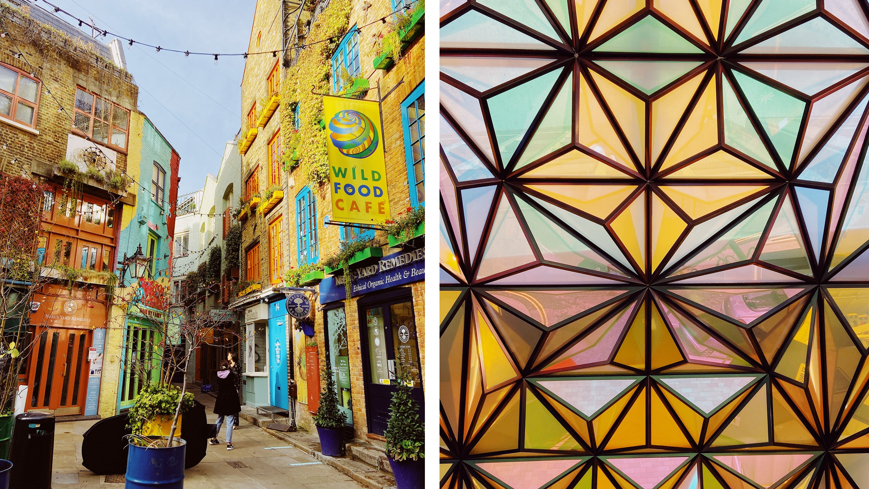 Covent Garden Neals Yard Seven Dials Central London Colourful Streets Guide