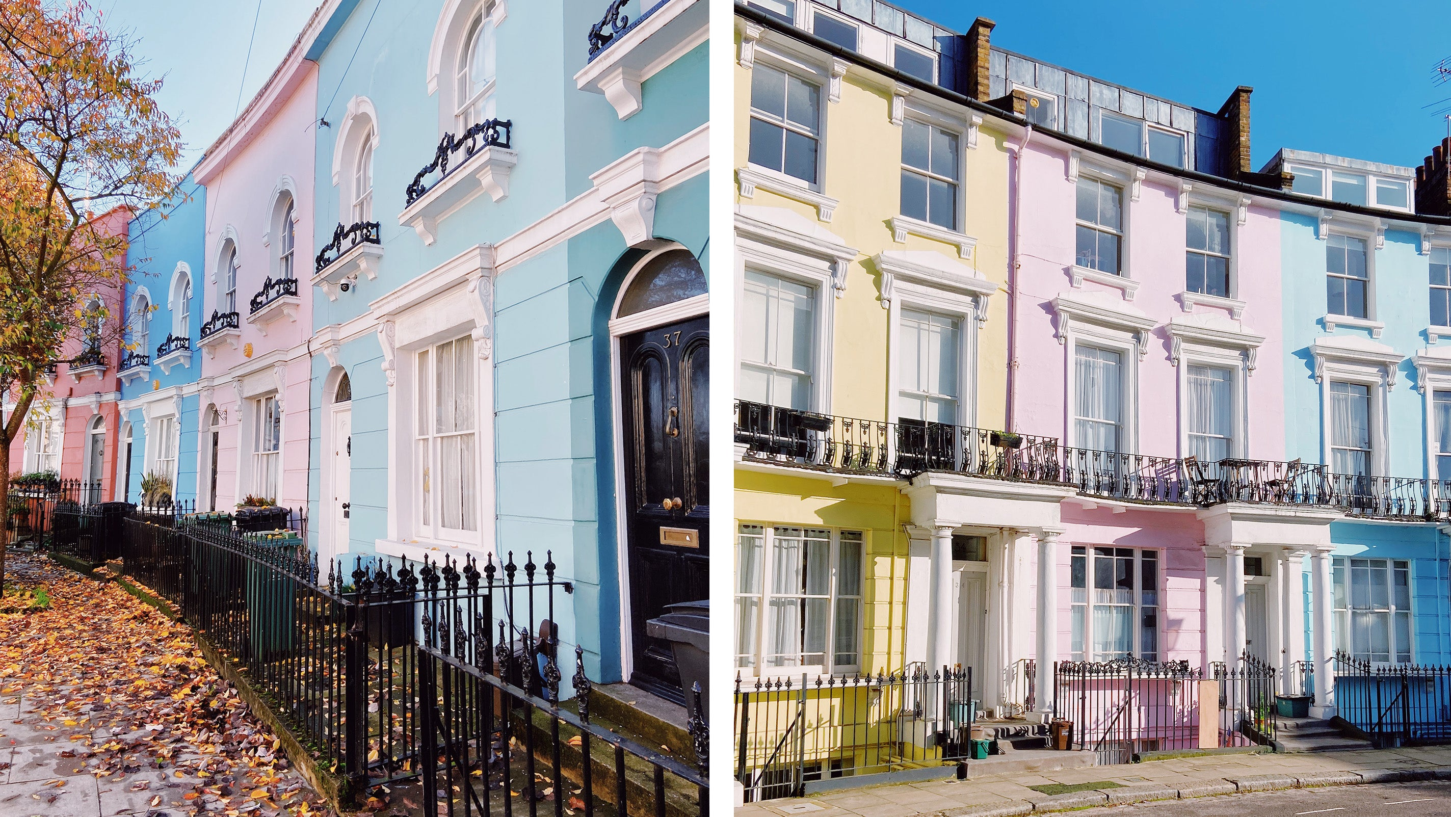 North London Kentish Town Kelly Street Colourful Houses Falkland Road Chalcot Crescent Daytrip Things To Do