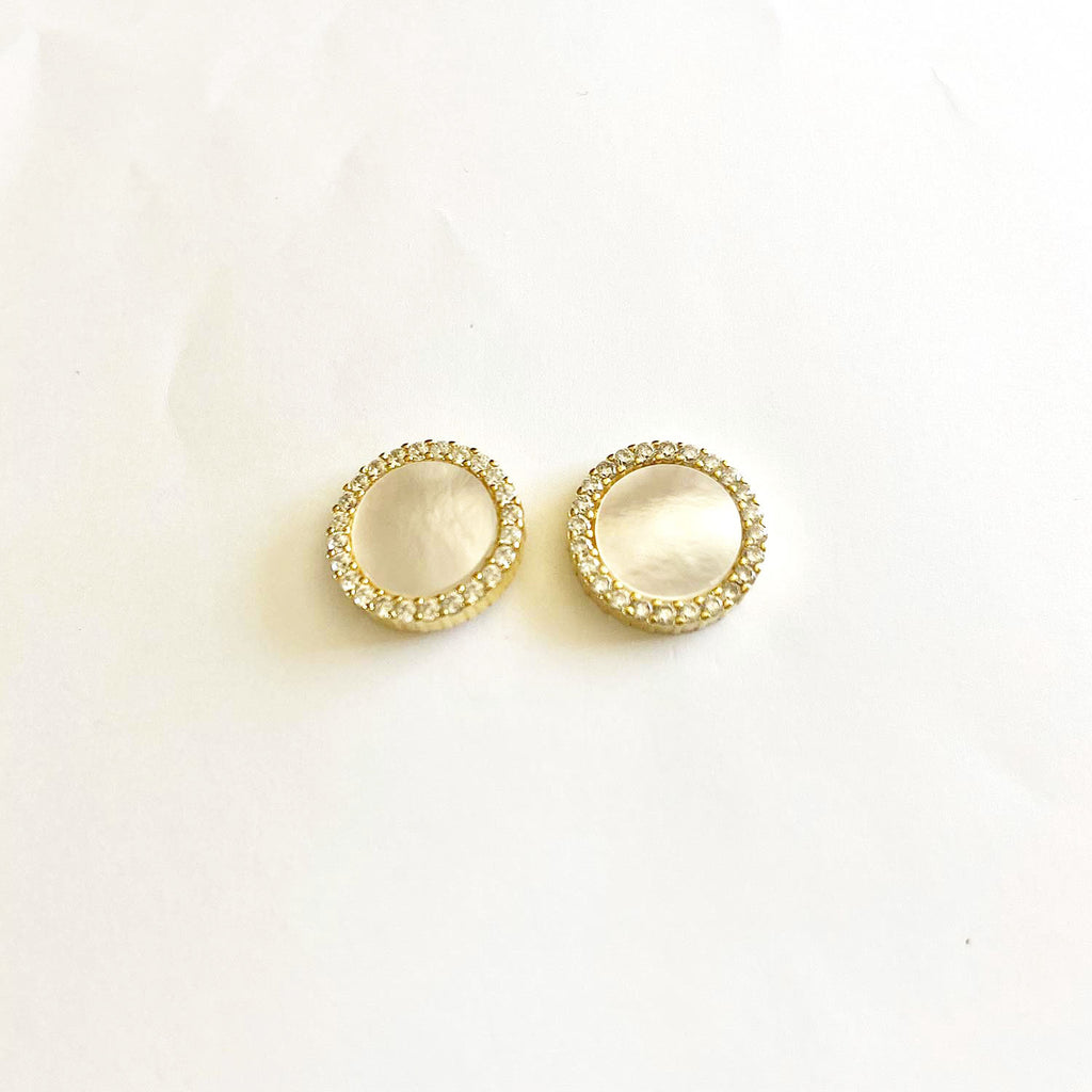 Disc Mother of Pearl Earrings