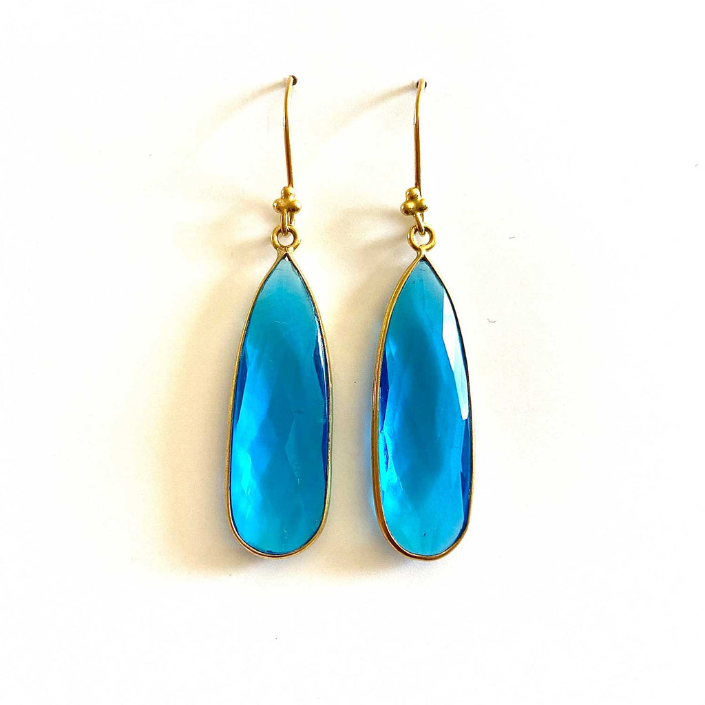 Blue Topaz Teardrop Earrings
