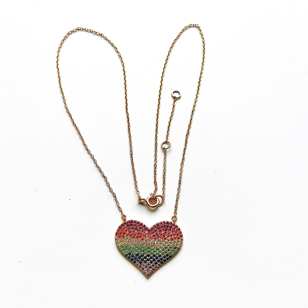 Pride Heart Necklace