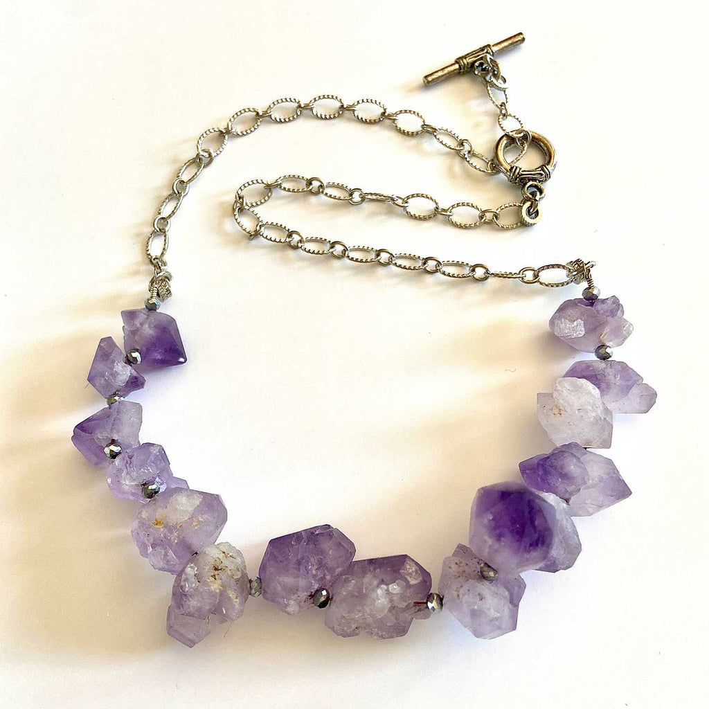 Amethyst Sterling Silver Necklace