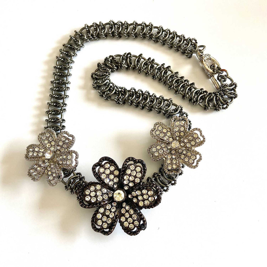 Vintage Styled Flower Necklace