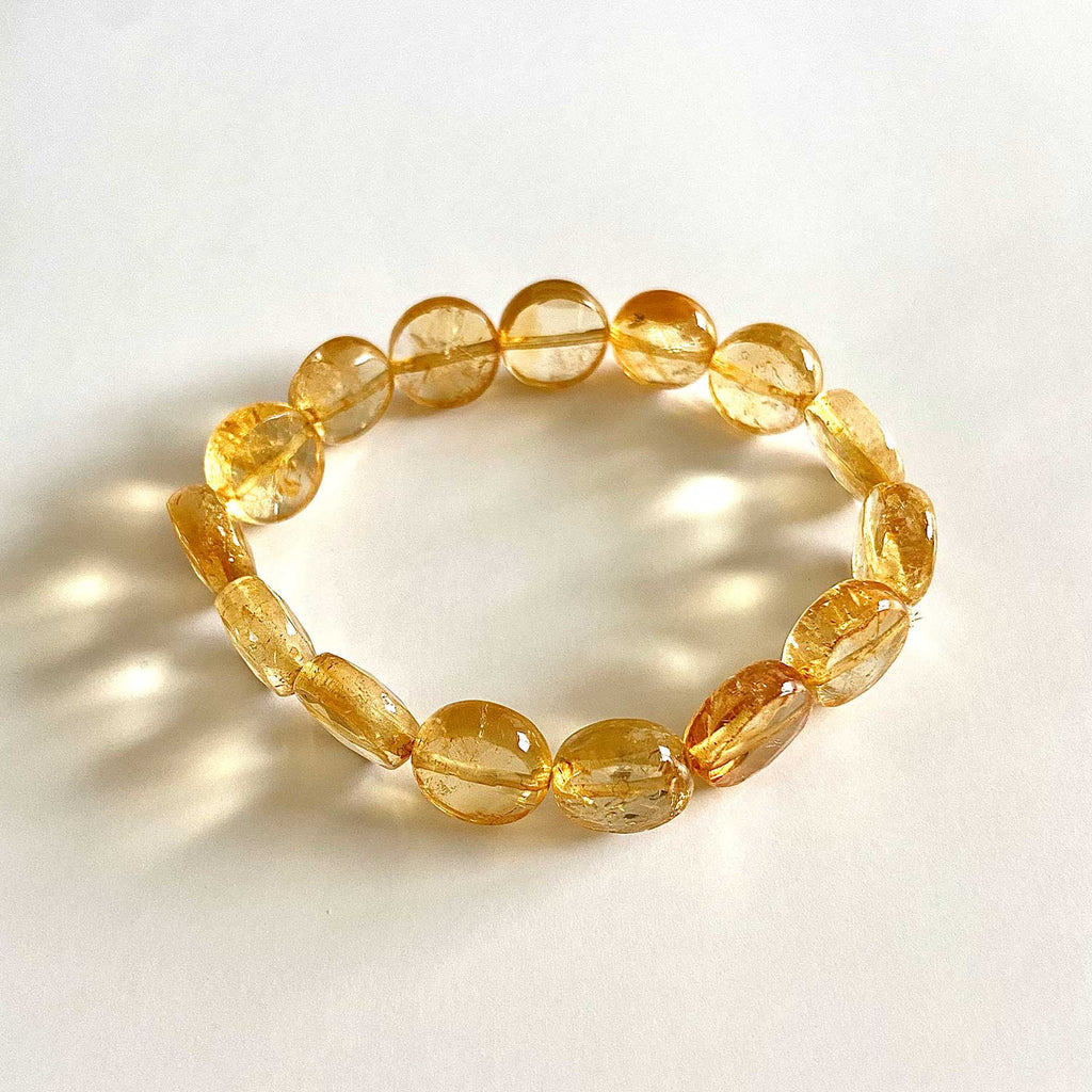 Cut Citrine Meditation Bracelet