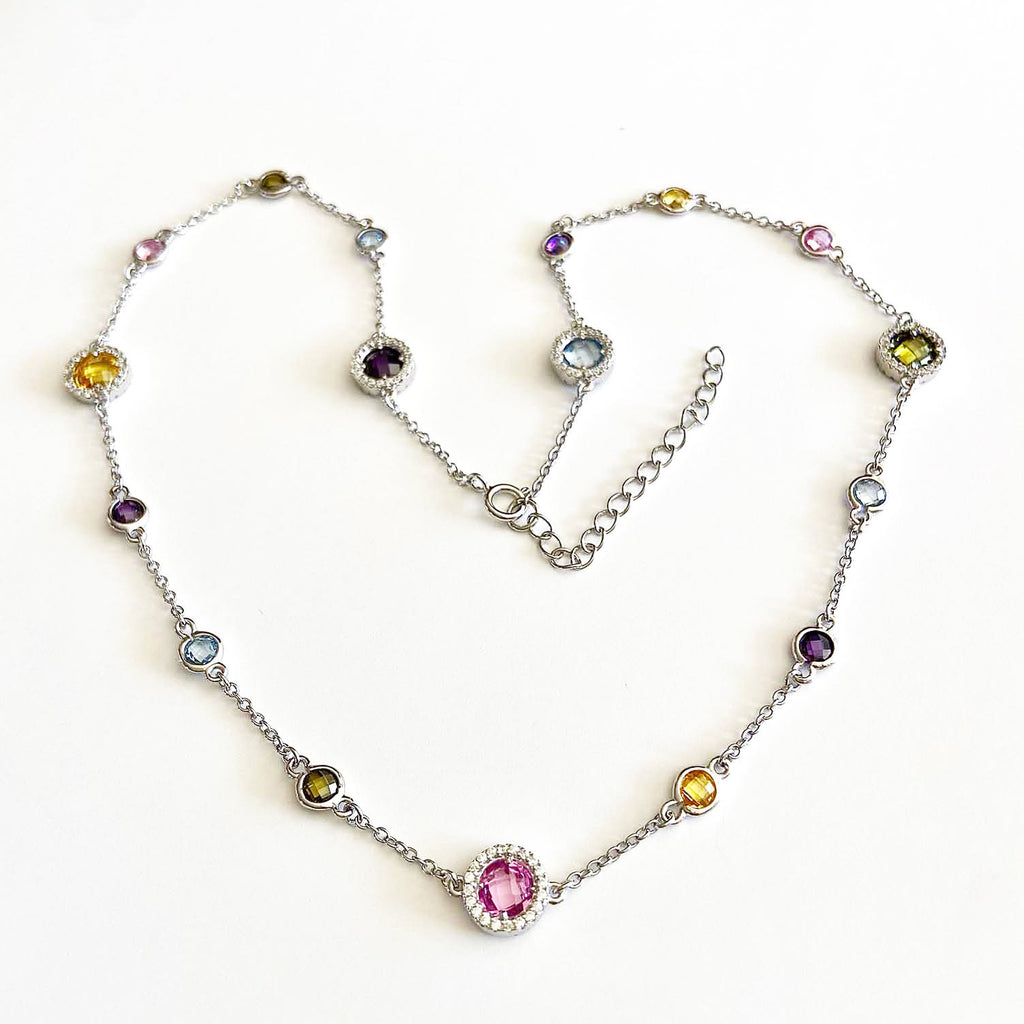 Multi-gemstone Long Necklace