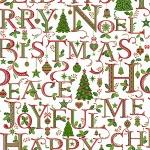 Christmas Silver Words on White