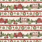 Evergreen Farm Multi Repeating Stripe