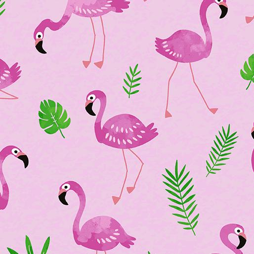 Flamingo Frenzy on Pink