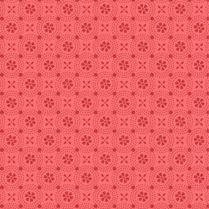 KimberBell Basics Red Circle Flower