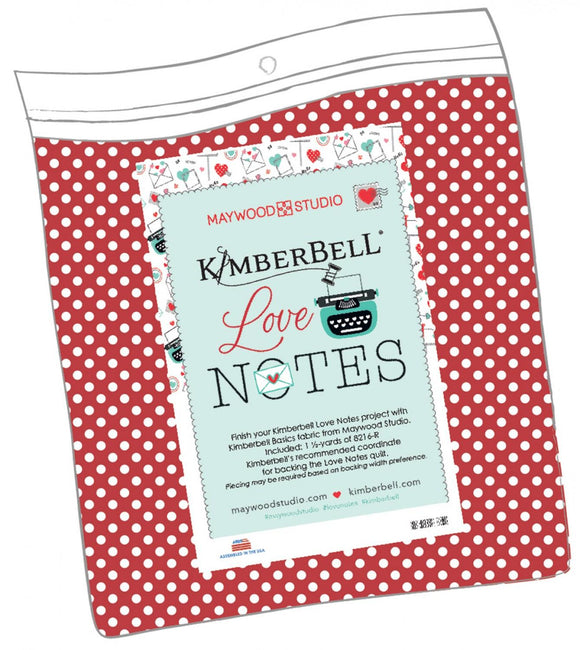 Kimberbell Love Notes Quilt Backing Kit