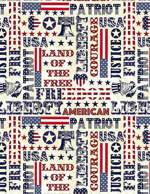 Land Of The Free Patriotic Typography