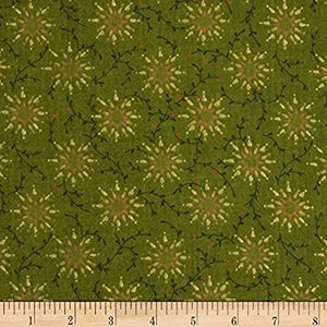 "Prairie Vine 108""  Green Quilt Backing"