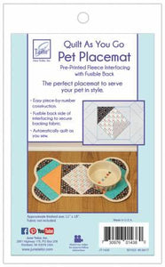 Quilt As You Go Pet Placemat Dog
