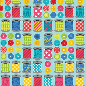 Sew Excited School Of Fun Turquoise