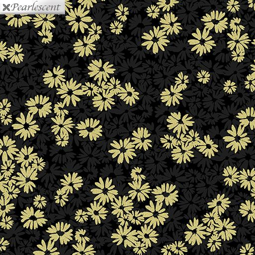 Shimmer & Shine Shimmery Shadow Flower Black and Gold