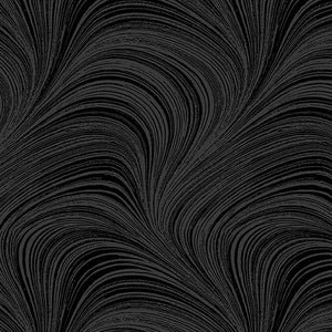Wave Texture Black Wide