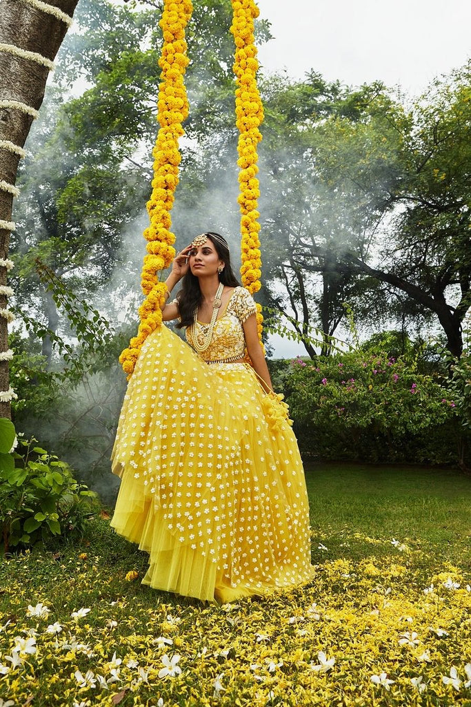 Lemon Yellow Lehenga Set