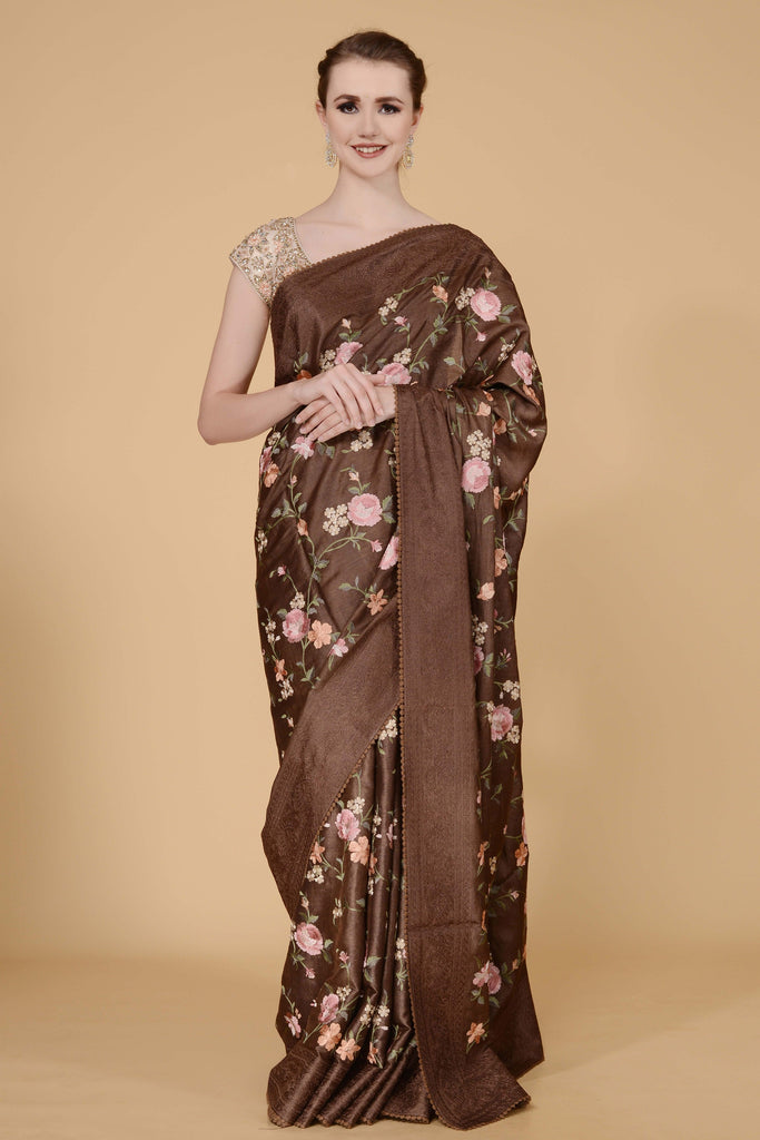 Brown Handloom Saree