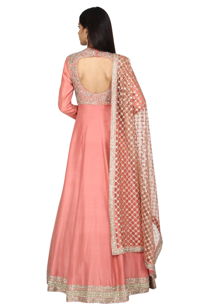 Rose blush anarkali
