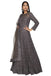 Steel gray anarkali