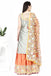 Silver Tunic and Peach Sharara Set.