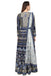 Navy Blue Embroidered Anarkali set.