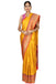Yellow golden handloom saree