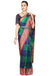 Blue & Green Checkered Saree. - Frontier Bazarr