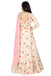 Blush pink thread embroidered anarkali.
