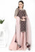 Wine Tunic with Pale Pink Sharara Set.