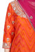 Orange and Magenta Kurta set.