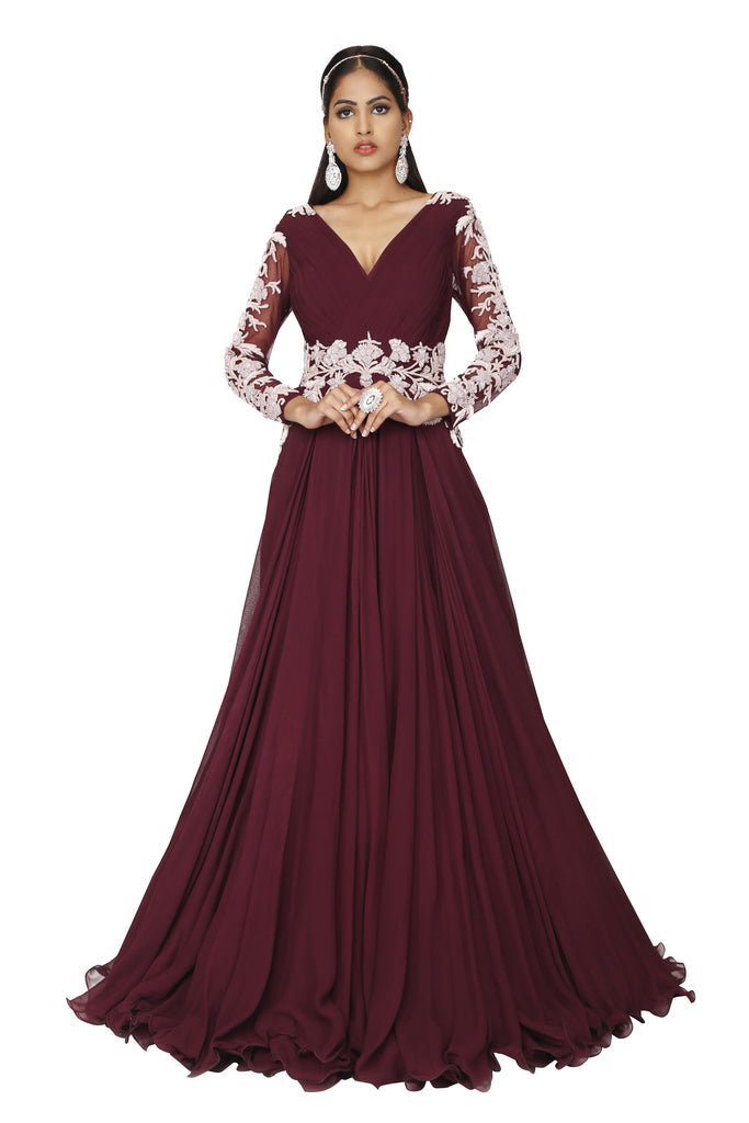 Wine gown