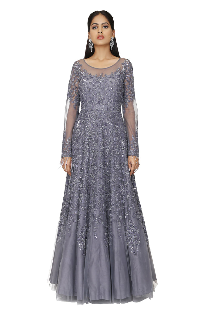 Nightingale Grey gown.