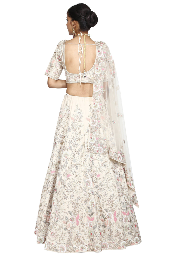 Powder pink lehenga set.