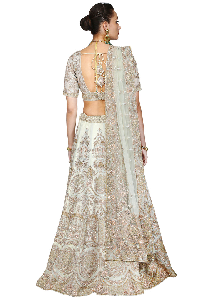 Light grayish lehenga set