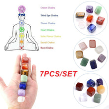 Load image into Gallery viewer, 7 Colors Chakra Stone Set Yoga Energy Chakra\Reiki Healing Crystals Stone