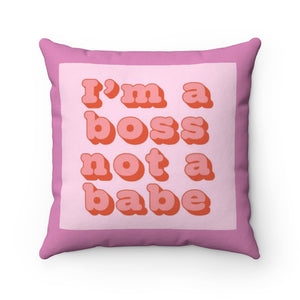 """BOSS BABE"" Throw Pillow"