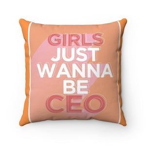 """CEO BAE"" Throw Pillow"