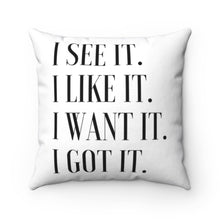 "Load image into Gallery viewer, ""GIRL BOSS"" Throw Pillow"