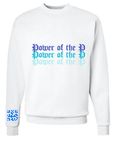 """Power of the P"" [Ice Ocean] Crewneck"