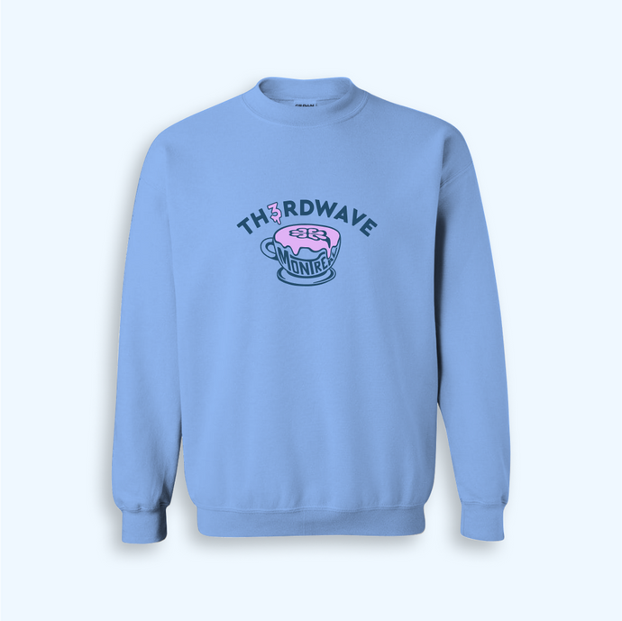 TH3RDWAVE LATTE CREWNECK • BLEU