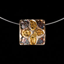 Load image into Gallery viewer, Pendant  Two Sided Floral Motif Opposite Side Celtic Pattern