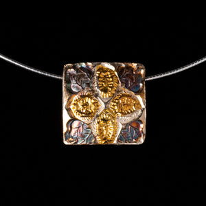 Pendant  Two Sided Floral Motif Opposite Side Celtic Pattern