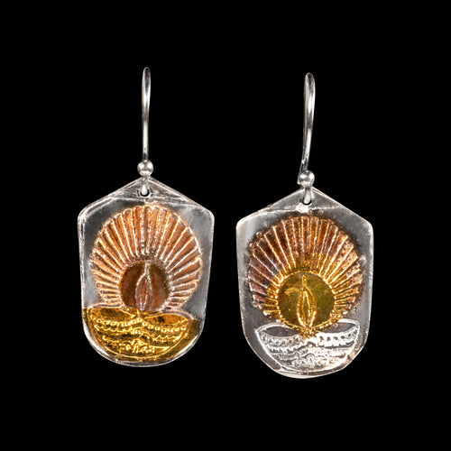 Diwali earrings pure silver/ 24K Gold foil