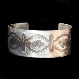Etched Sterling Cuff Unisex Pattern