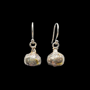Acorn Cap Earrings Silver Gold
