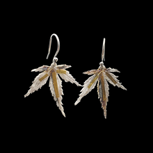 Load image into Gallery viewer, Japanese Maple Leaf Earrings Silver Gold